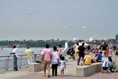 NYC: FlyNYKite Festival on Pier 70 Royalty Free Stock Images