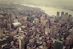 NYC från över Arkivfoto