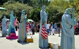 NYC: Freiheitsstatue Pantomimen Lizenzfreie Stockbilder
