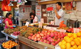 NYC: Fruit Vendors in Chinatown Royalty Free Stock Photo