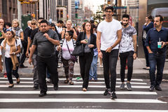 NYC-Fußgänger Lizenzfreies Stockfoto