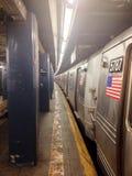 NYC-gångtunnel på östliga Broadway Arkivbilder
