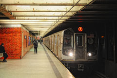 NYC-gångtunneldrev Arkivbilder