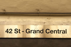 NYC-gångtunnelen posterar Fotografering för Bildbyråer