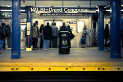 NYC-gångtunnelstation Royaltyfria Bilder