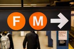 NYC-gångtunneltecken Fotografering för Bildbyråer