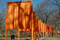 NYC:The Gates by artist Christo Royalty Free Stock Photography