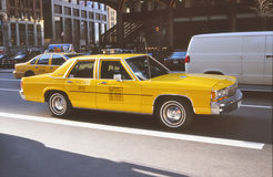 NYC 1996 - Gele Taxi Royalty-vrije Stock Afbeelding