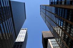 NYC: Glass Corporate 6th Avenue Towers Stock Photography