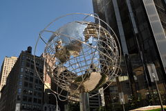 NYC: Globe Sculpture at Trump Hotel Stock Photography
