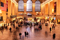 NYC Grand Central at Thanksgiving Holiday. This is a shot of NYC Grand Central Station during Thanksgiving holiday. People are rushing to their destinations Stock Images
