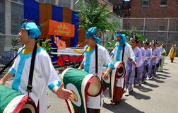NYC: Grand Procession at Burmese Water Festival Stock Photo