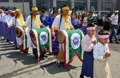 NYC: Grand Procession at Water Festival Stock Photo