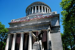 NYC:  Grant's Tomb. A handsome neo-classical building draped with Memorial Day bunting known as ,Grant's Tomb is the final resting place for the 18th President Stock Image