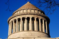 NYC:  Grant's Tomb. New York City:  Conical dome with doric columns atop Grant's Tomb in Riverside Park at West 116th Street Royalty Free Stock Photo