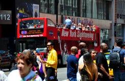 NYC: Gray Line Sightseeing Bus Fotos de Stock