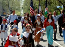 NYC: Greek Independence Day Parade Stock Images