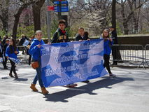 The 2016 NYC Greek Independence Day Parade 17. The Federation of Hellenic Societies of Greater New York organizes the annual Greek Independence Day Parade in New royalty free stock images
