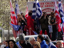 NYC Greek Independence Day Parade 2016 Part 5 89. The Federation of Hellenic Societies of Greater New York organizes the annual Greek Independence Day Parade in royalty free stock photos