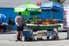 NYC Green Cart Royalty Free Stock Photos