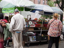NYC Green Cart Royalty Free Stock Photo