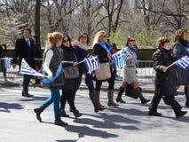 2016 NYC Griekse Parade 14 van de Onafhankelijkheidsdag Stock Foto's