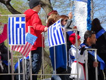 2016 NYC Griekse Parade 30 van de Onafhankelijkheidsdag Royalty-vrije Stock Foto's