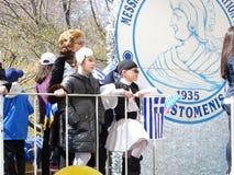 2016 NYC Griekse Parade 70 van de Onafhankelijkheidsdag Royalty-vrije Stock Foto's