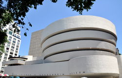 NYC:  The Guggenheim Museum. The Solomon R. Guggenheim Museum on NYC's Fifth Avenue at East 88th Street designed by legendary American architect Frank Lloyd Stock Image
