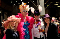 NYC:  Happy People at Easter Parade Stock Image