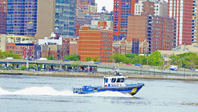 NYC Harbor Patrol Royalty Free Stock Photography