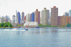NYC Harbor Patrol Royalty Free Stock Images