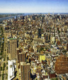 ¡NYC hasta el ojo puede ver! Imagen de archivo libre de regalías