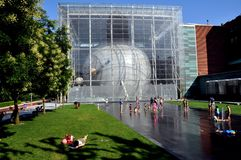 NYC: Hayden Planetarium and Ross Terrace Stock Images