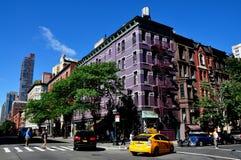 NYC: Heliotrópio Columbus Avenue Apartment Building Fotografia de Stock