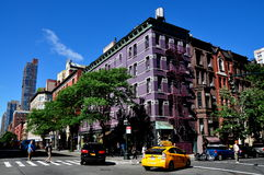 NYC: Heliotrope Columbus Avenue Apartment Building Stock Photography