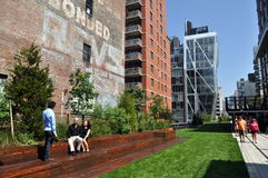 NYC: Het hoge Park van de Lijn Royalty-vrije Stock Afbeelding