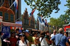 NYC: Het nieuwe Dorp van Amsterdam bij Groen Kegelen Stock Foto