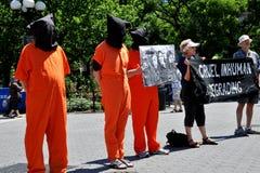 NYC: Het Protest van Amnesty International stock afbeeldingen