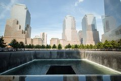 NYC-het Strijkijzer van architectuurskycrapers Stock Foto