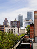 NYC High Line. On a beautiful sunny day Stock Image