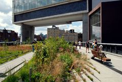 NYC: The High Line Park Stock Photo