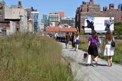 NYC: The High Line Park Stock Photography