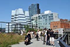 NYC: The High Line Park Royalty Free Stock Photography