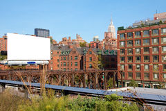 NYC Highline Billboard Stock Photos