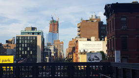 NYC Highline. View from the New York City highline, in the meat packing district Royalty Free Stock Photography