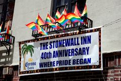 NYC: Historic Stonewall Inn Stock Image