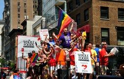 NYC : 2014 homosexuel Pride Parade Images stock