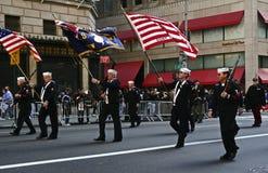NYC honra día de veteranos Imagen de archivo