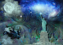 NYC-horisont Royaltyfria Bilder